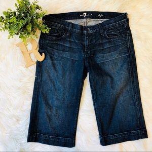 7 For all Man Kind  DoJo Dark Wash Shorts